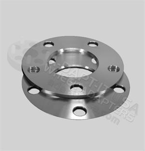 5x120 Lug flat wheel spacer, multiple thickness and hub centric available